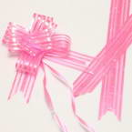 Automatic Ribbon bow, pink, 2 Flower bows, 13cm x 10cm x 4cm