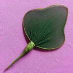 Nylon leaves for nylon flowers, wires and Nylon, green, 7.5cm x 5cm, 10 pieces
