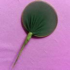 Nylon leaves for nylon flowers, wires and Nylon, green, 5cm x 3cm, 10 pieces