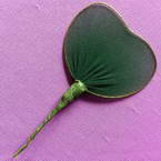 Nylon leaves for nylon flowers, wires and Nylon, green, 6cm x 5.5cm, 10 pieces