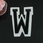 Applique Cloth label, Hand sewn cloth, 5.2cm x 4cm, 1 piece