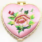 Small mirror, pink, 1.2cm x 6.5cm x 6.7cm, 1 piece