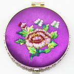 Small mirror, purple, 1.2cm x 7cm x 7.5cm, 1 piece