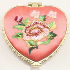 Small mirror, pink, Heart shape, 6.5cm x 6.5cm x 1.2cm, 1  piece