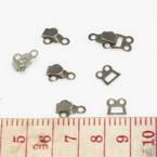 Hook & Eyes, Copper, Metallic colour, 1.2cm x 0.9cm, 0.8cm x 0.8cm, 3 Hook & Eyes