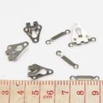 Hook & Eyes, Copper, Metallic colour, 1.8cm x 1.3cm, 2cm x 0.4cm, 3 Hook & Eyes