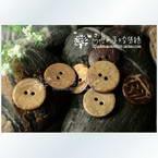 Coconut buttons, 1.6cm x 1.6cm x 0.2cm, 1 pieces