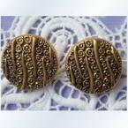 Imitation metal buttons, 1.4cm x 1.4cm x 0.2cm, 1 pieces
