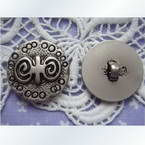 Imitation metal buttons, 2.5cm x 2.5cm x 0.3cm, 1 pieces