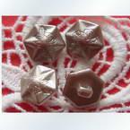 Imitation metal buttons, 1.2cm x 1.2cm x 0.3cm, 1 pieces