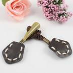 Faux suede button, Light brown, Light brown, 18cm x 4cm, 1 Button