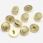 Buttons, Resin, Gold colour, 3 buttons, Diameter 10mm (approximate)