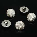Buttons, Resin, Silver colour, 2 buttons, 21mm x 21mm x 5mm