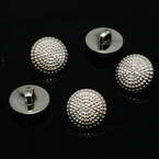 Buttons, Resin, Silver colour, 3 buttons, 15mm x 15mm x 5mm