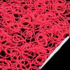 Loom Twister Bands, Elastic rubber, Magenta, 350 Bands Per Pack, 1.4mm