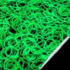 Loom Twister Bands, Elastic rubber, green, 300 Bands Per Pack, 1.4mm
