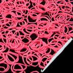 Loom Twister Bands, Elastic rubber, pink, 300 Bands Per Pack, 1.4mm