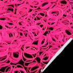 Loom Twister Bands, Elastic rubber, Magenta, 300 Bands Per Pack, 1.4mm
