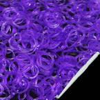 Loom Twister Bands, Elastic rubber, Indigo, 400 Bands Per Pack, 1.4mm