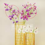Mesh Nylon flower making kit, Magenta, Light purple, 15 flowers, 4cm (diameter of flowers), Lisianthus misty