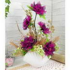 Mesh Nylon flower making kit, purple, 5 flowers, Peony