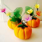 Handmade nylon product Set of materials, Pumpkin, 4, 11cm x 9cm