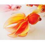 Handmade nylon product Set of materials, Gold fish, 3 Animals, 15cm x 10cm