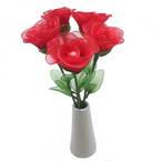 Mesh Nylon flower making kit, Pinkish red, 5 flowers, Rose