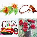 Beginners nylon flower making kit 1