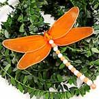 Handmade nylon product Set of materials, Dragonfly, 11cm x 11cm, 3 Dragonfly