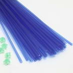 Luminous Lucky star plastic straws, Plastic, blue, 36cm x 5mm, 30 pieces (approximate)