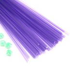 Luminous Lucky star plastic straws, Plastic, Light purple, 36cm x 5mm, 30 pieces (approximate)