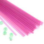 Luminous Lucky star plastic straws, Plastic, Magenta, 36cm x 5mm, 30 pieces (approximate)