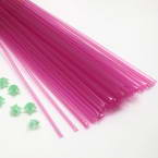 Lucky star plastic straws, Plastic, purple, 38cm x 4mm, 60 pieces (approximate)