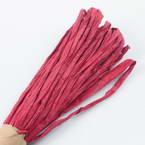 Raffia Ribbon, Pinkish red, 13m x 0.5cm