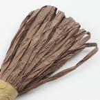 Raffia Ribbon, brown, 13m x 0.5cm