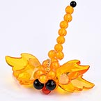 Bead keyring kits, orange, Dragonfly, Size of item when completed (approximately) 8cm x 8.5cm