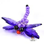 Bead keyring kits, Dark purple, Dragonfly, Size of item when completed (approximately) 8cm x 8.5cm