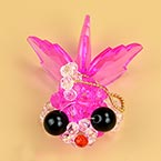 Bead keyring kits, pink, Gold fish, Size of item when completed (approximately) 4cm x 7cm