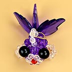 Bead keyring kits, Dark purple, Gold fish, Size of item when completed (approximately) 4cm x 7cm