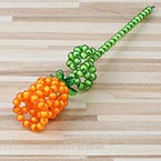 Bead flower kits, orange, Rose, Size of item when completed (approximately) 4cm x 25cm