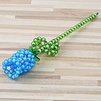 Bead flower kits, blue, Rose, Size of item when completed (approximately) 4cm x 25cm