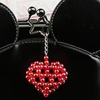 Bead keyring kits, Burgandy, Heart shape, Size of item when completed (approximately) 5cm x 5cm