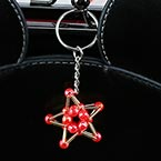 Bead keyring kits, Burgandy, Five pointed star, Size of item when completed (approximately) 3.5cm x 3.5cm