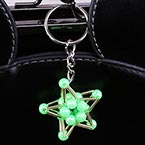 Bead keyring kits, green, Five pointed star, Size of item when completed (approximately) 3.5cm x 3.5cm