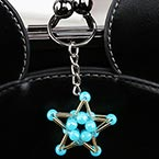 Bead keyring kits, blue, Five pointed star, Size of item when completed (approximately) 3.5cm x 3.5cm