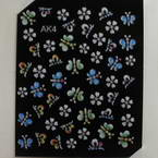 3D nail stickers, Assorted colours, 5cm x 6cm, 1  piece