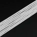 Ficelles Mambo, Polyester, blanc, 5m, Diamètres de 3mm