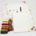 Picture frames Set of materials, Paper, white, 15.5cm x 11.5cm, 9 sheets