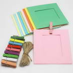 Picture frames Set of materials, Paper, Yellow, blue, 9.5cm x 9cm, 10 sheets